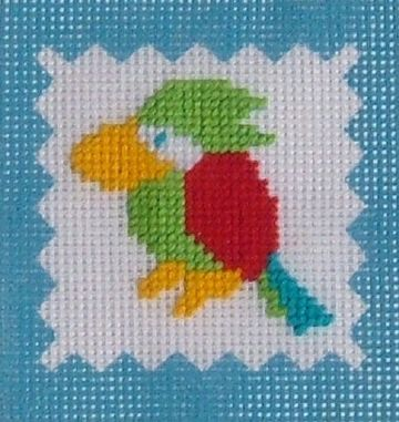 Parrot Tapestry Kit by Daisy Designs from Derwent water Designs.